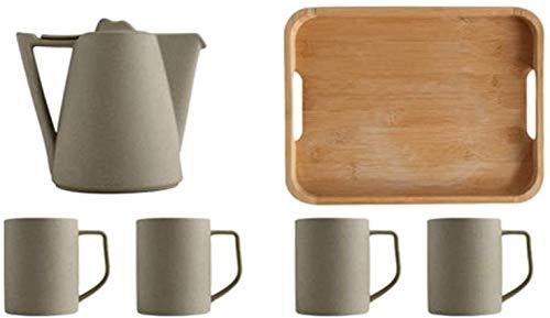HJW Tetera Útil Tetera Vasos de Vino sin Tallo Tetera Taza de Té Taza de Café Taza de Cerámica en Bruto para la Oficina en Casa Juego de Té de Ocio Regalo Creativo Taza de Té