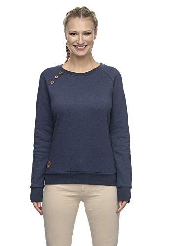 Ragwear Sweatshirt Damen DARIA 2021-30004 Dunkelblau Navy 2028, Größe:S