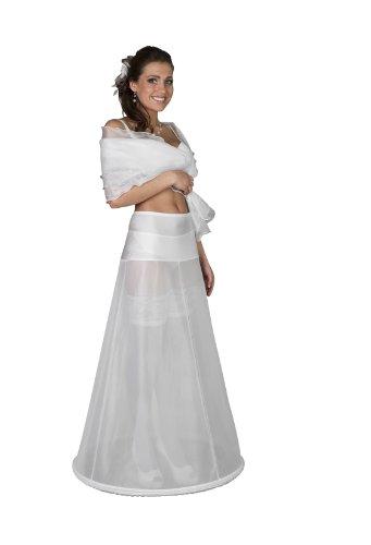 Nina Brautmoden Reifrock für Brautkleid - Umfang 190 cm - 1 Reifen - Breites Jersey Hüftteil, M, Weiß