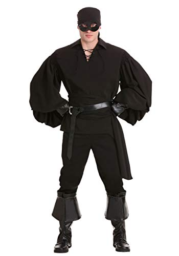Adult Westley Princess Bride Costume Dread Pirate Roberts Costume with Black Costume Gloves Adult Halloween Costumes for Men Medium