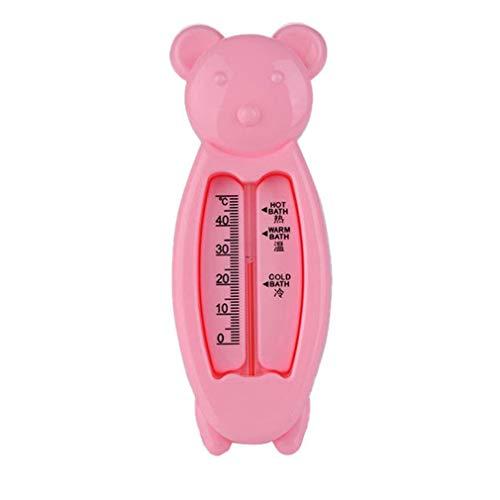 Deliu Termómetros de Agua para bebés Juguete Forma de Oso Inteligente Juguetes para bebés Medidor de Temperatura Rosa