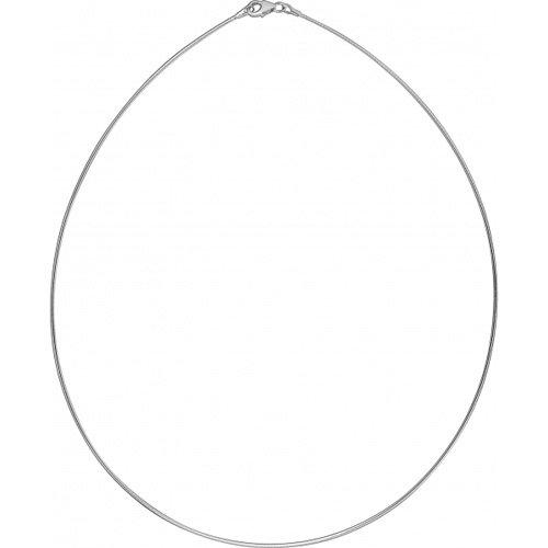 Omegareif Goldschmiedearbeit made in Germany (Sterling Silber 925) 1,9 mm Stärke - Omega Silber Halsreif - Tondakette – Omegakette - Damen Halsreif - Damenkette - Mädchenkette