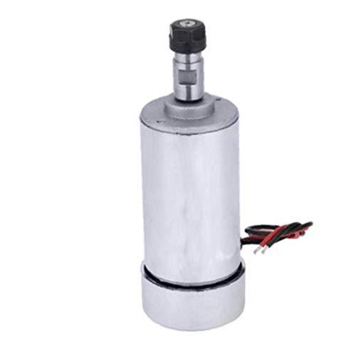 GPWDSN Motor de husillo CNC Air Cool Er11 48v 400w Cepillo Motor de husillo de Alta Velocidad Herramienta de Grabado para fresadora Plata