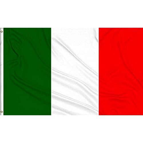 Mlian - Bandiera dell'Italia, 150 x 90 cm, con 2 occhielli in ottone