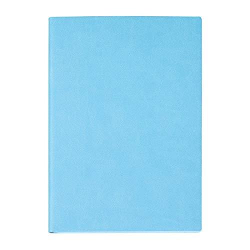 A4 Business Simple Página En Blanco Página Cuaderno, Diario De La Libreta Resistente Al Desgaste Impermeable Para La PU, Para La Escritura De La Oficina Registros Diarios Regalos Conmemorativos, Azul