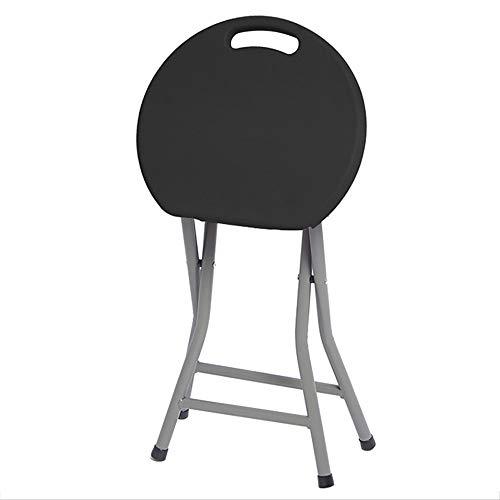 JB- Chaises pliantes Mode Créative Pliante Chaise Ronde Portable Chaise De Loisirs en Plein Air Table en Plastique Épais Banc De Camping * (Taille : 33x55cm)