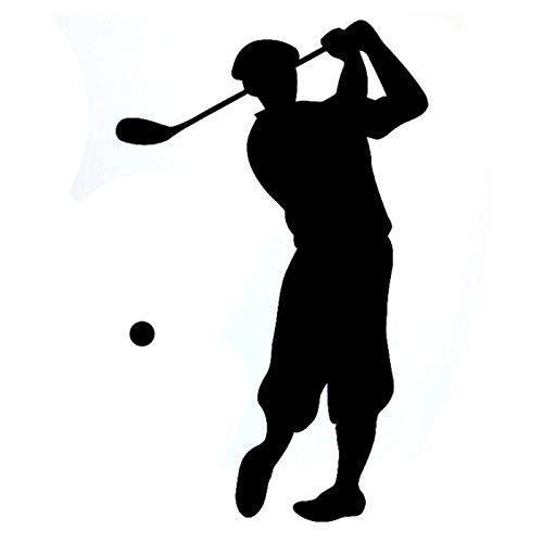 Bonitos pegatinas 8.9cmx14.3cm Moda Golf Sport Fitness Silhouette Vinyl Pegatina de coche Sticker de carro (Color Name : BLACK)