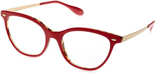 Ray-Ban 5360, Montature Donna, Rosso (Red/Gold), 52