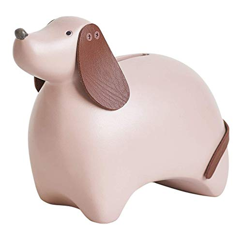 HEMFV Cute Cartoon Resin Piggy Bank Coin Bank Safe Money Box Saving Bank Storage Box Best Christmas Birthday Gifts for Kids Boys Girls Home Decoration
