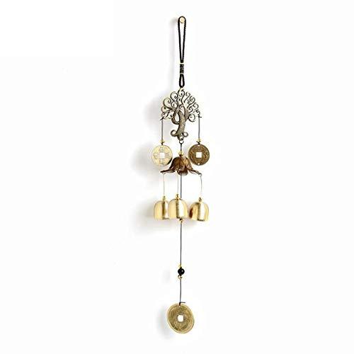Xushiwanju Lucky Wind Chimes Deur Decoratie Deurbel met 3 Koper Tuned Tubes, Beste cadeau voor moeder, Verjaardagscadeaus (45cm/17.7in)
