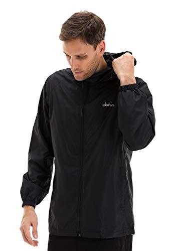 Clothin Men's Lightweight Travel Jacket/Jogging Coat for Outdoor Exercise Sport Golf Running Outerwear Windbreaker(Black S)