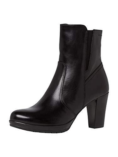 Tamaris Damen Stiefeletten, Frauen Klassische Stiefelette, Freizeit leger Stiefel Boot halbstiefel Bootie hoch high Heel Party,Black,38 EU / 5 UK