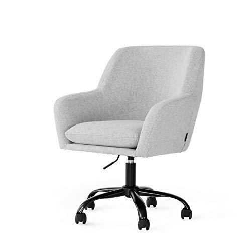 Drehsessel mit Rollen Stuhl für Schreibtisch Mit Armlehnen und Rücken Schreibtischstuhl Kosmetik Stuhl mit Verstellbar Hydraulische Grau Bürostuhl mit Rollen