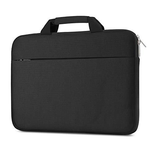 "AtailorBird 14"" Custodia Borsa Notebook con Maniglia,Custodie Morbide per PC Portatili Multifunzionale Protettiva Impermeabile per Notebook Chromebook Surface Sleeve Laptop-Nero"