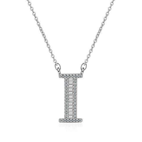 MCAdianpu Vrouwen/Meisjes Echte 925 Sterling Zilver Letters Initialen Naam Hangers Kettingen Mode Sieraden Beste Geschenken