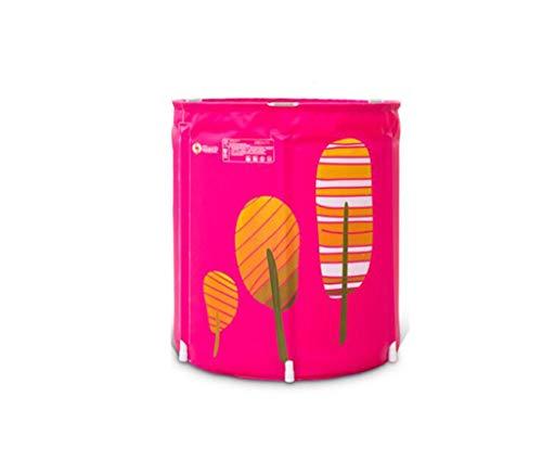 Exquisite Woman's vouwbad, huishouden, baby, huisdier zwemmen bekken draagbare douche cilinder grote wastafel Multifunctionele roze 65 * 70CM roze