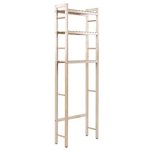 Estante para inodoro de 3 niveles, estante para lavadora de madera, estante para baño con 3 estantes estante para inodoro estante multifuncional para baño, para productos de cuidado cosméticos 50x20x1