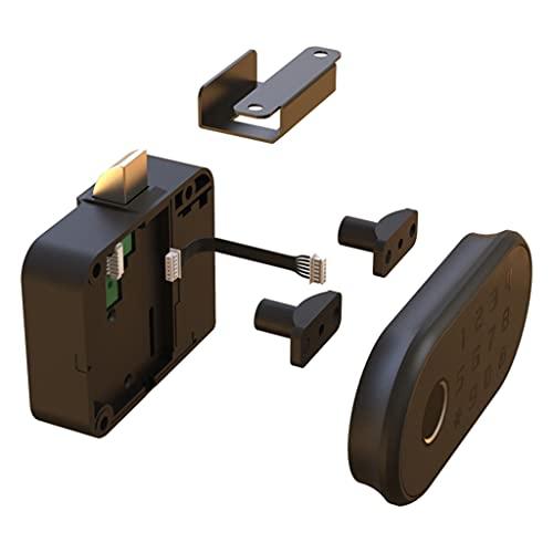 MagiDeal Cerradura con contraseña de huellas dactilares Cerraduras de gabinete Caja de madera sin llave biométrica Cajón de muebles Cerraduras de huellas