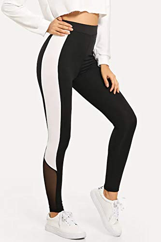 BLINKIN Mesh Yoga Gym Dance Workout and Active Sports Fitness Polyester Leggings Tights with Mesh for Women|Girls(1869)