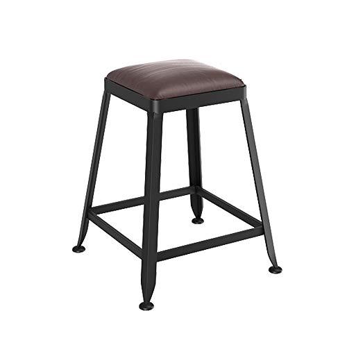 Tabouret de bar bois massif européen en fer forgé tabouret de bar tabouret de bar chaise minimaliste moderne tabouret haut (Couleur : G, taille : 45cm)