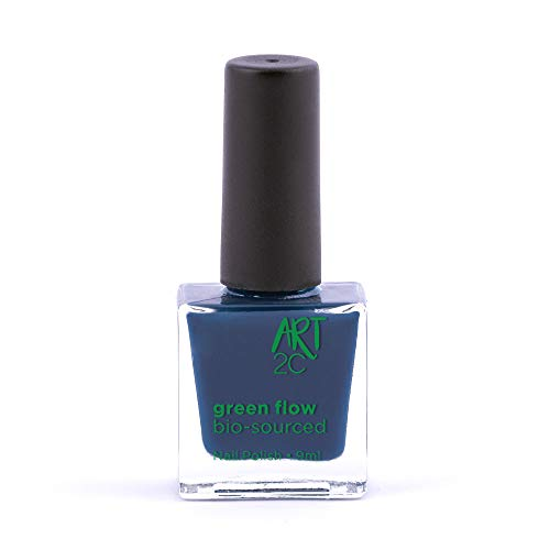 Art 2C - Esmalte de uñas puro con fórmula 85 % ecológica y vegana, 24 colores, 9 ml, color: Denim (31)