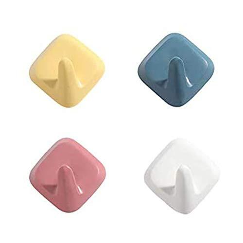 4 Juegos de Ganchos de Pared autoadhesivos de Color. Gancho para Colgar sin daños. Muy Adecuado para Ganchos de Puerta, Ganchos para Toallas, Ganchos para Llaves de Pared, Ganchos Decorativos.