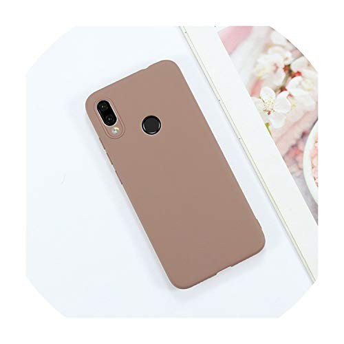 Candy Solid Color Case for Samsung Galaxy A50 A70 A40 A30 A20 A10 Note 10 9 S8 S9 S10E 5G J4 J6 Plus J8 A6 A7 2018 Phone Cover,S9 Plus,Brown