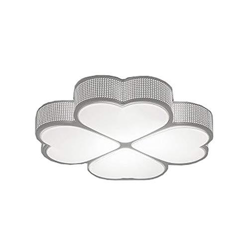 Plafoniere a LED, 36W Luce Bianca a Forma di Quadrifoglio Plafoniere in Ferro Art per Camera da Letto, Cucina, Soggiorno, corridoio, Illuminazione per Studio