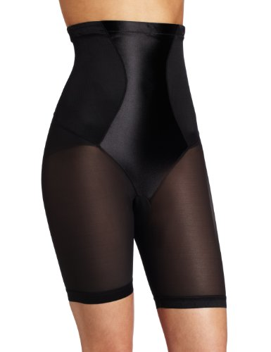 Maidenform Flexees Women's Shapewear Hi-Waist Thigh Slimmer, Black, Small