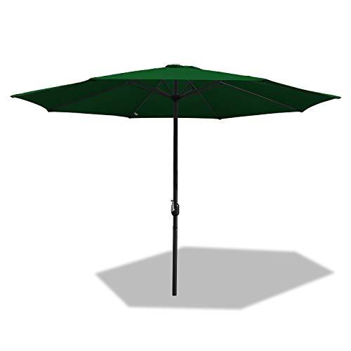 BMOT Sonnenschirm Gartenschirm Wasserabweisende UV40+ UV-Schutz Rund Ampelschirm Farbwahl mit Handkurbel Terrassenschirm für Balkon, Terrasse & Garten