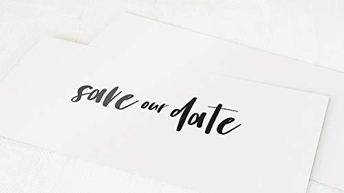 sendmoments Einladung Save the Date Hochzeit Karten, zum persönlichen Beschriften, Joy, 5er Karten-Set im langen Querformat, optional passende Umschläge