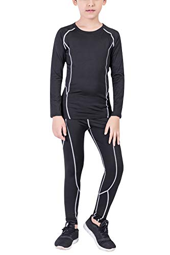 Winter Thermal Underwear for Boys Kids Active Base Layer Set Long Johns Running Tights