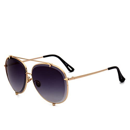 LUOXUEFEI Gafas De Sol Gafas De Sol Hombres Mujeres Conducir Espejo Redondo Gafas De Sol Gafas Masculinas