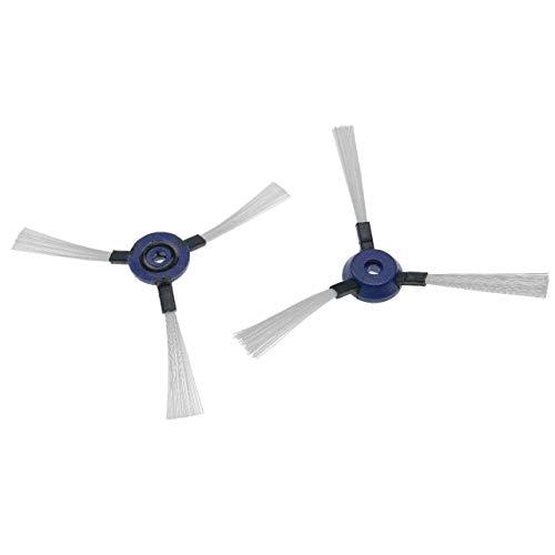 vhbw 2X Cepillo Lateral Compatible con Rowenta Smart Force Essential Robot Aspirador -Set cepillos de Limpieza, Negro/Blanco/Azul