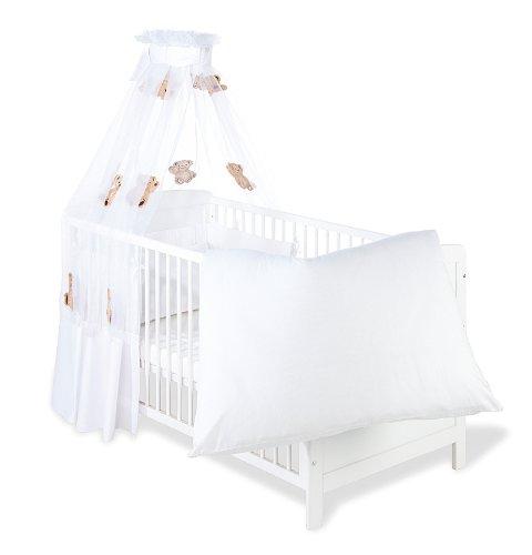 Pinolino 60911-0 - Set für Kinderbett, 4-tlg., Bär Voile