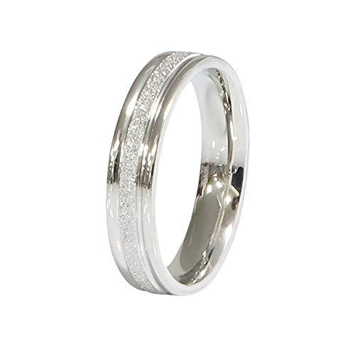 ステンレス リング(92)砂目 銀色 サージカルステンレス製 指輪 316L
