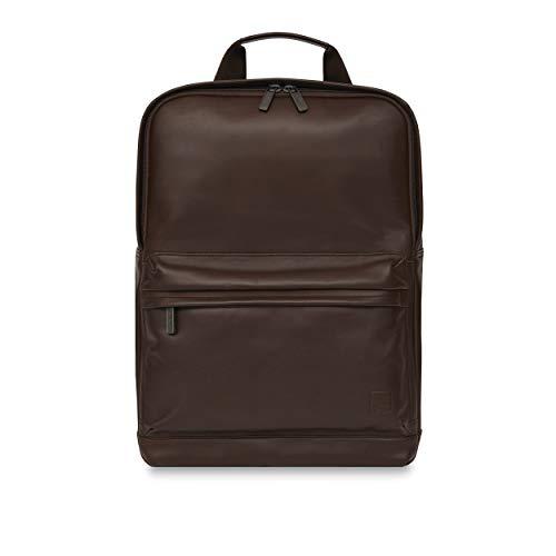 Knomo Barbican Brackley Leather Backpack - 15' laptop case, Brown