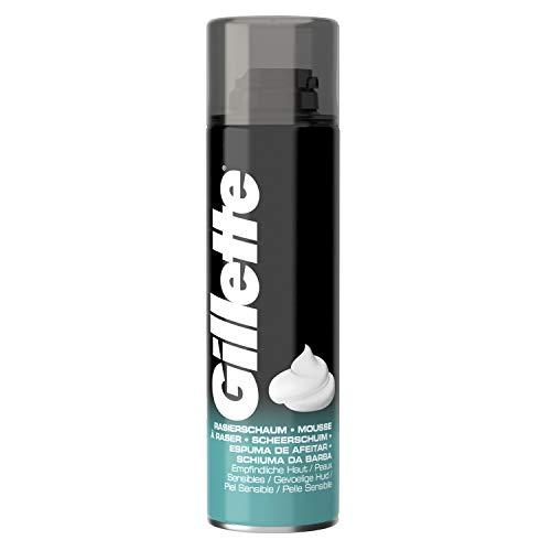 Gillette Basis Rasierschaum für empfindliche Haut 200 ml, 6 Stück (6 x 200 ml)