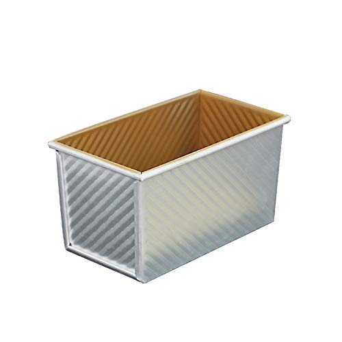 JINNIN Bread Mold, Golden Corrugated Aluminum Alloy Bread Cake Toast Mold, Suitable for Making DIY Cakes, Bread, Meatloaf, Quiche, Toast