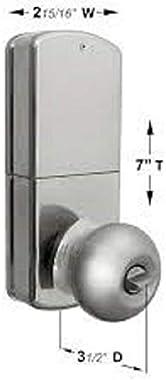 MiLocks TKK-02SN Tkk-Sn Digital Door Knob Lock with Electronic Keypad for Interior Doors, Satin Nickel