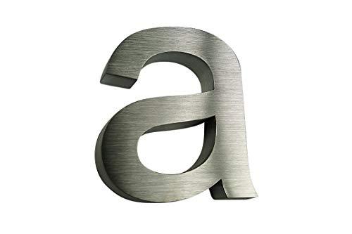 Roestvrij stalen huisnummer/letter A, B, C, D/onderste kast/H15 cm/arial in 3D design/V2 A/