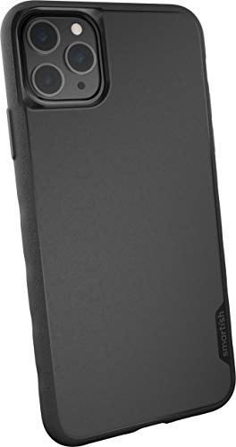 Smartish iPhone 11 Pro Max Slim Case - Gripmunk [Lightweight + Protective] Thin Cover (Silk) - Black Tie Affair