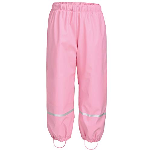 LIUONEXI Unisex-Kinder Jungen Mädchen Warme Regenhose Buddelhose Matschhose mit Fussel Futter, Pink, 86-92