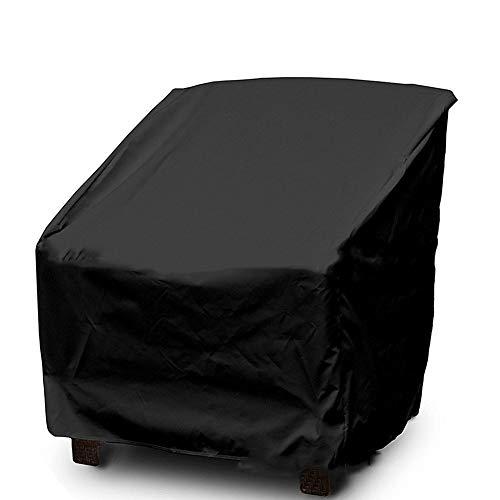 FCZBHT Couverture de Meubles Prime Jardin Housse De Chaise, Imperméable Anti-UV, Disponible Toute L'année Garde poussière (Couleur : Noir, Taille : 64 * 71 * 70cm)
