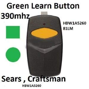 Why Should You Buy Sears Craftsman 1 Button Garage Door Opener Remote Transmitter HBW1A5260 390mhz