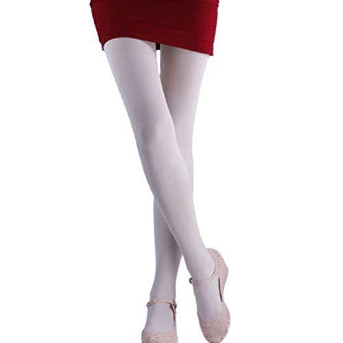 uyhghjhb 120D Fashion Damen Strumpfhosen aus Samt, warm, dick, süßes Design, weiß
