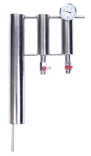 INOX Graham condenseur + Décanteur (2) + Thermomètre   Refroidisseur de Distillation   Verrerie De Laboratoire   Radiateur de distillation   Colonne de distillation