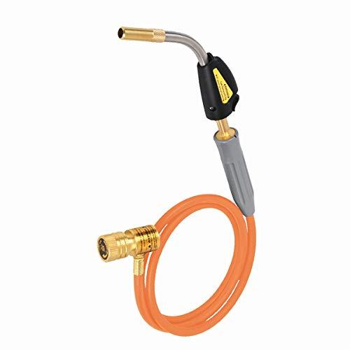 Gas MAPP antorcha antorcha de soldadura profesional, usado con MAPP / gas propano para soldadura soldadura soldadura fontaneria calefaccion barbacoa aplicaciones HVAC (Tywel-1S60)