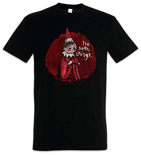 Elf heeft gezien dingen T-shirt de elf kerst kerstman op de plank leuk scout elfen