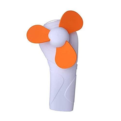 Fanámetro USB Mini refrigerante ventilador al aire libre Camping Portátil Formal de mano de mano con LED Flujo de aire fábrico (tamaño: pequeño; Color: Rosa) ZDWN ( Color : Orange , Size : Small )